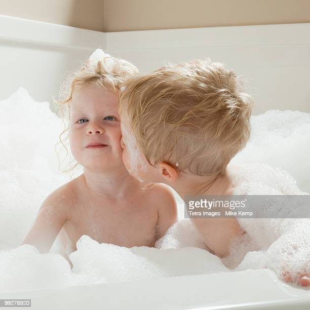 Baby In Bathtub Stock Photos and Pictures | Getty Images