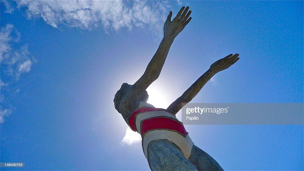 Bather in sun : Stock Photo