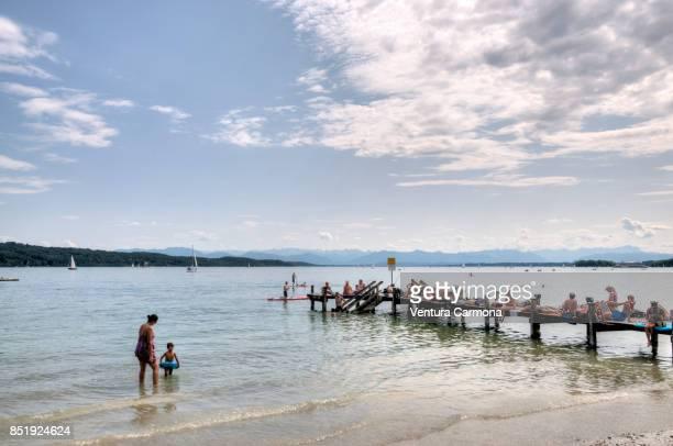 Bathers at Lake Starnberger