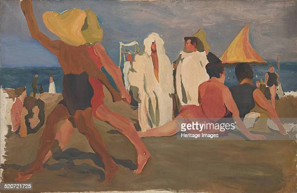 Bathers on the Lido Venice Private Collection