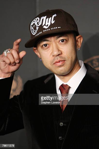 Bathing Ape designer Nigo attends a reception to benefit UNICEF hosted by Gucci during MercedesBenz Fashion Week Fall 2008 at The Salon at Bryant...