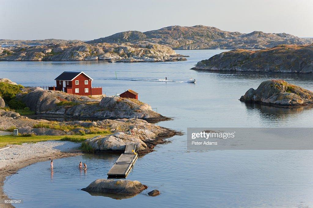Bathing in Sea, Sk?rhamn, Tjorn, Sweden