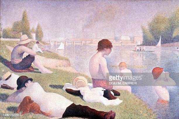 Bathing or a bather in Asnieres by Georges Seurat oil on canvas 201x301 cm London National Gallery