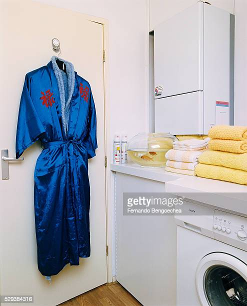 Bathrobes Hanging in Laundry Room