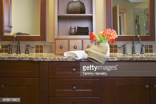Bathroom counter : Stock-Foto