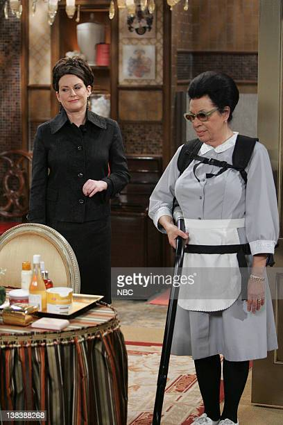 WILL GRACE  Bathroom Humor  Episode 11 Pictured Megan Mullally as Karen  Walker Shelley Morrison. Megan Smock Stock Photos and Pictures   Getty Images