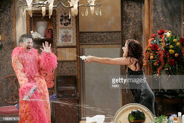 WILL GRACE  Bathroom Humor  Episode 11 Pictured Sean Hayes as Jack  McFarland Debra Messing. Things Only Get Done By Fighting Stock Photos and Pictures   Getty