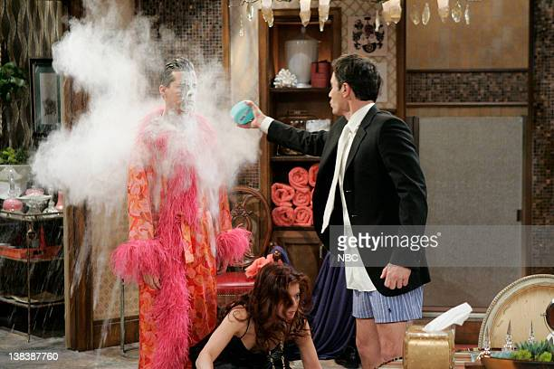 WILL GRACE  Bathroom Humor  Episode 11 Pictured Sean Hayes as Jack  McFarland Debra Messing. Eric Tie Stock Photos and Pictures   Getty Images