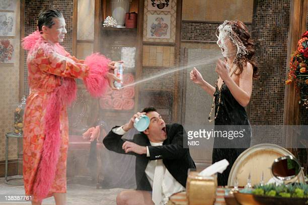 WILL GRACE  Bathroom Humor  Episode 11 Pictured Sean Hayes as Jack  McFarland Eric McCormack. Funny Dress Socks Stock Photos and Pictures   Getty Images