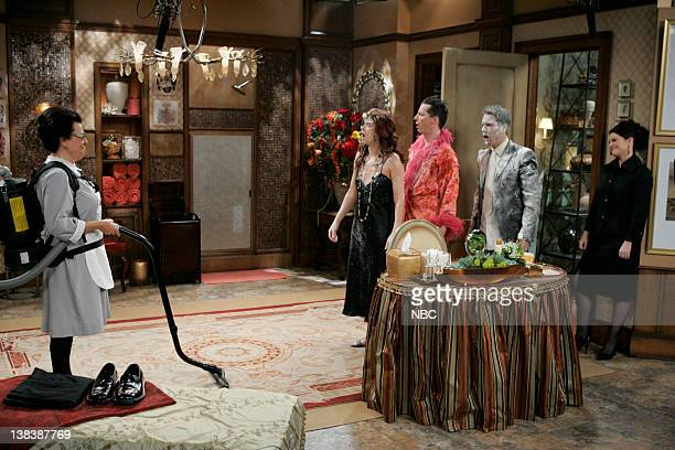 WILL GRACE  Bathroom Humor  Episode 11 Pictured Shelley Morrison as Rosario  Salazar Debra Messing. Megan Smock Stock Photos and Pictures   Getty Images