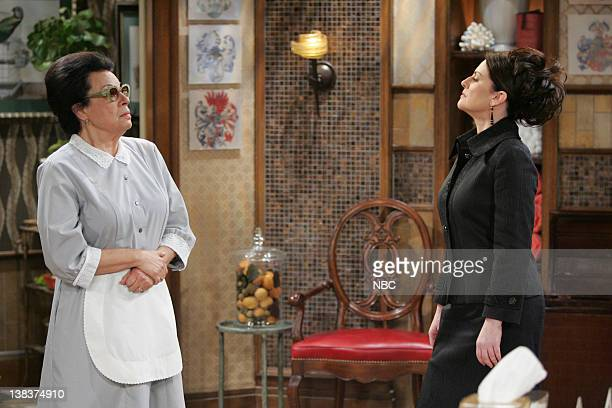 WILL GRACE  Bathroom Humor  Episode 11 Pictured Shelley Morrison as Rosario  Salazar Megan Mullally. Will Grace Stock Photos and Pictures   Getty Images