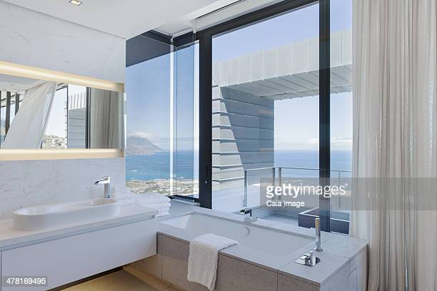 Bathroom in modern house