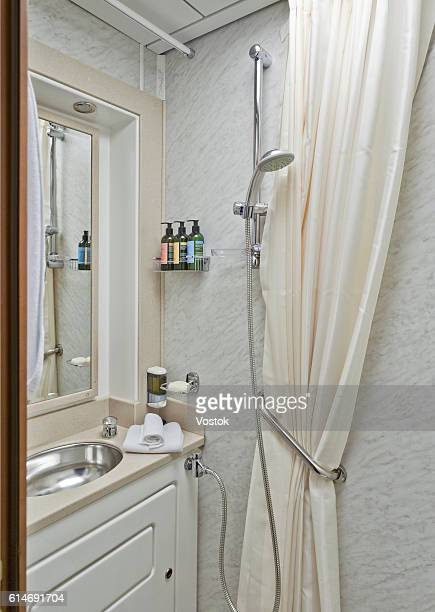 Bathroom on the luxury trans siberian express