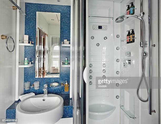 Bathroom on the luxury transsiberian express