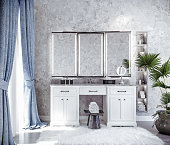 modern interior design of bathroom