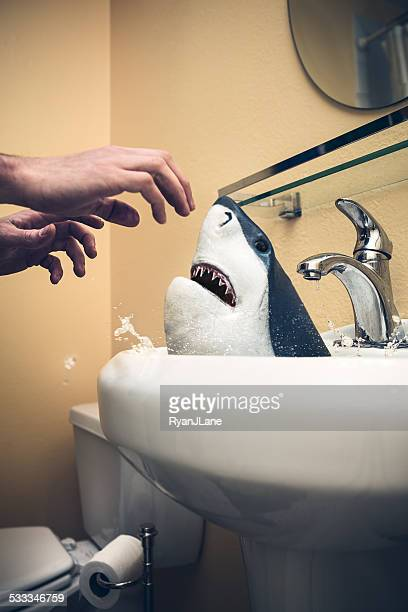 Bathroom Shark Attack