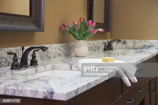 Bathroom sinks : Stock-Foto