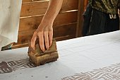 Batik Printing in Accra, Ghana