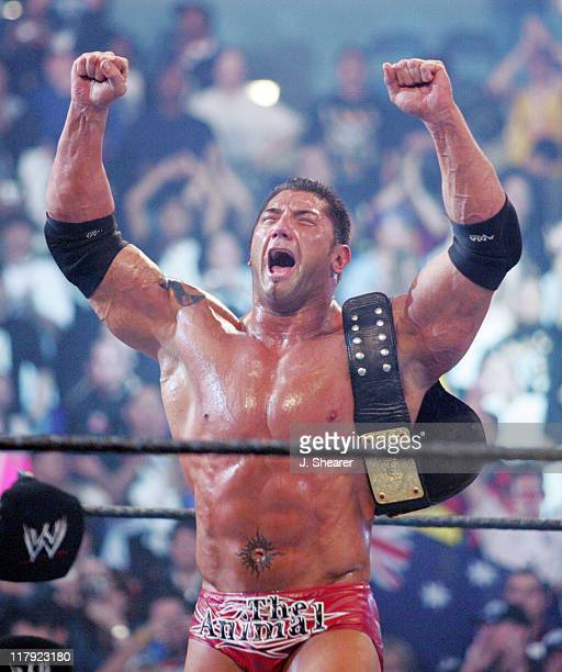 Batista during WWE WrestleMania 21 'WrestleMania Goes Hollywood' at Staples Center in Los Angeles California United States