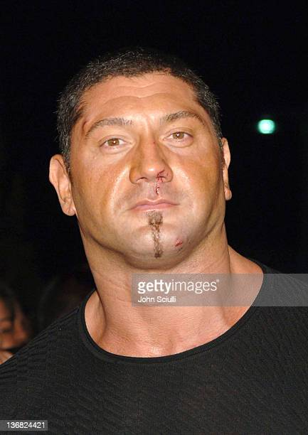 Batista WWE Smackdown Superstar during 'See No Evil' Premiere Arrivals in Los Angeles California United States