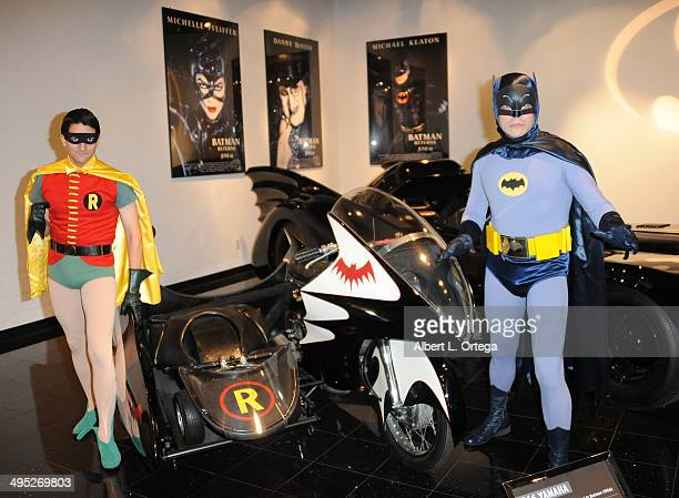 Batman and Robin at the 'Batman 66 Meets The Green Hornet' Comic Book Kickoff Fatman On Batman Live Podcast With Kevin Smith And Ralph Garman held at...
