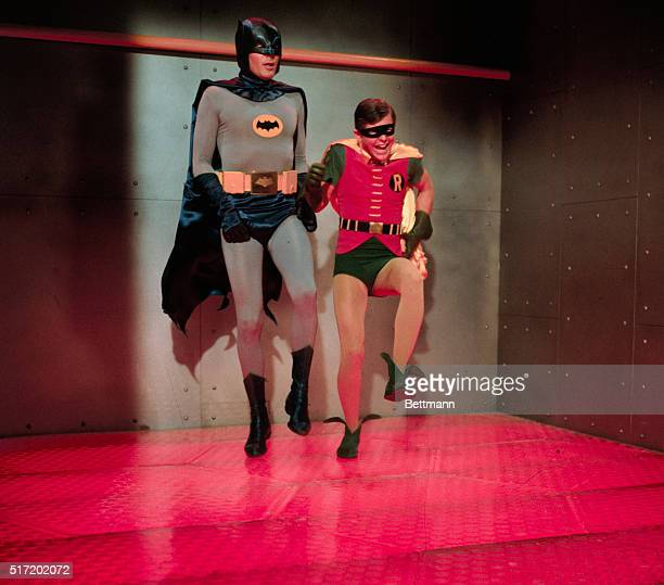Batman and Robin in a room with a very hot floor Television handout