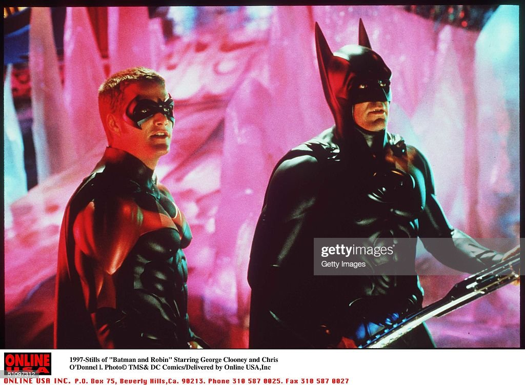 5/27- 'Batman And Robin ' Movie Stills Starring <a gi-track='captionPersonalityLinkClicked' href=/galleries/search?phrase=George+Clooney&family=editorial&specificpeople=202529 ng-click='$event.stopPropagation()'>George Clooney</a> And Chris O'Donnell