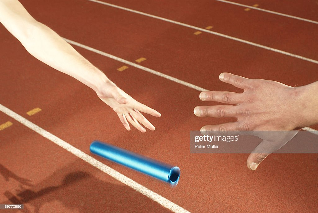 baton being dropped