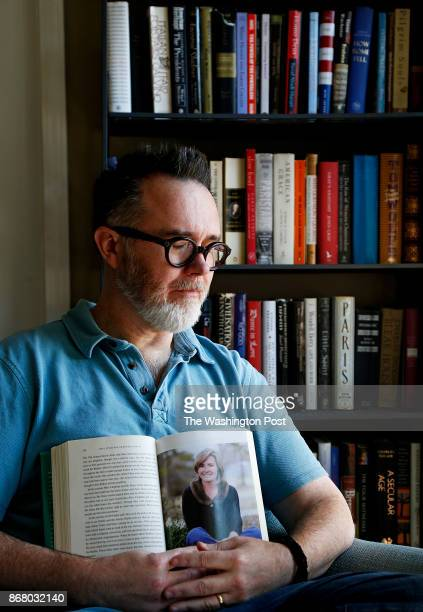 Baton Rouge LA Sept 11 2017 New Orleans Louisiana United States Author and blogger Rod Dreher holds a copy of his book 'The Little Way if Ruthie...