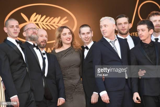 Actress Adele Haenel director Robin Campillo actors Antoine Reinartz Nahuel Perez Biscayart Aloise Sauvage Felix Maritaud and Arnaud Valois attend...