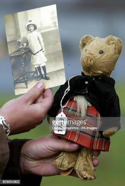 A battered teddy bear belonging to an Italianborn girl who was rescued from a tsunami which is to be auctioned The girl Feodora was adopted from a...