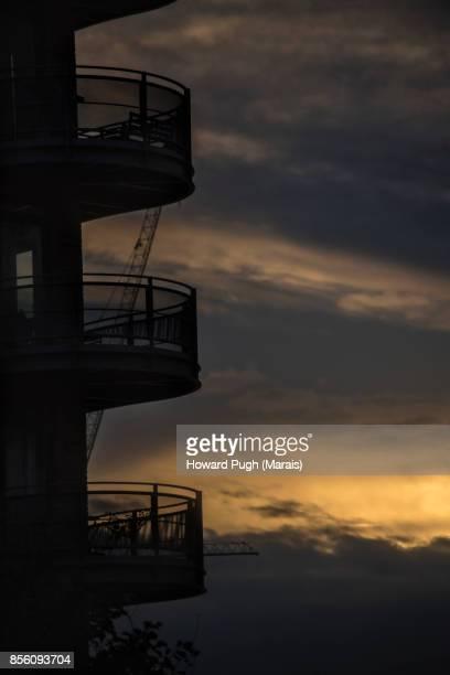 Battersea & Chelsea Waterfront. Balcony Sunset
