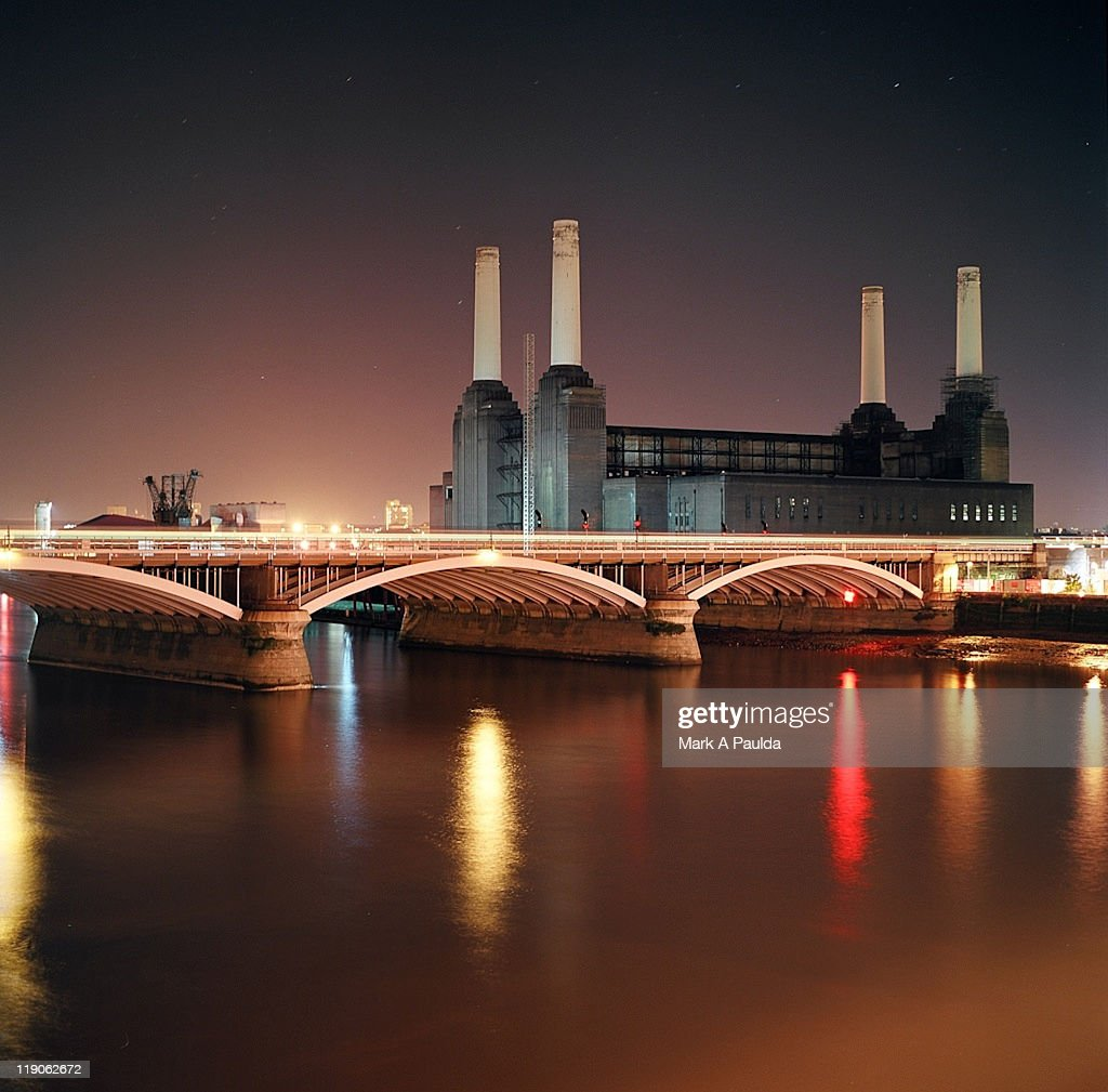 Battersea Power Station at night