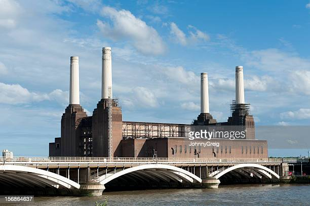 Battersea Power Station at River Thames