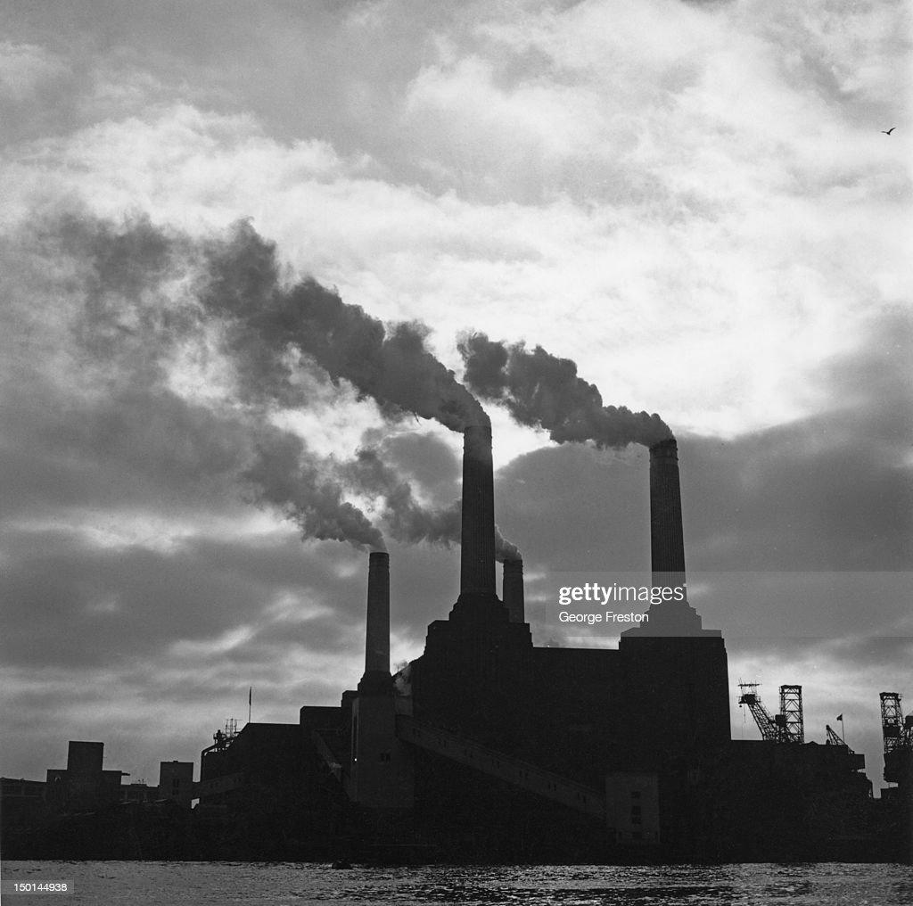 Battersea Power Station in London 20th November 1964