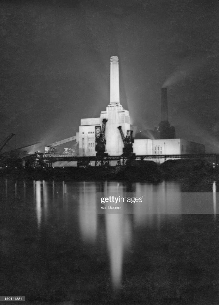 Battersea Power Station in London circa 1950