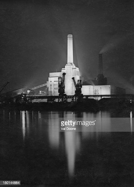 Battersea Power Station in London circa 1950