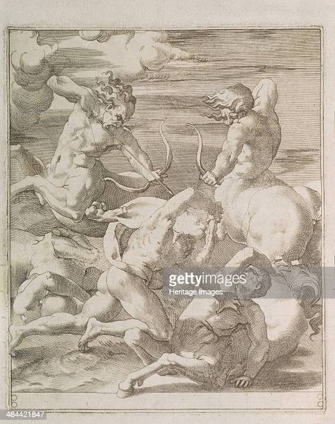 Battle between Hercules and Centaurs 1527 Found in the collection of the State Hermitage St Petersburg