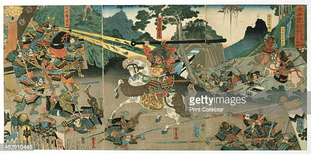 'Battle' from the series '47 Faithful Samurai' 18501880 From a private collection