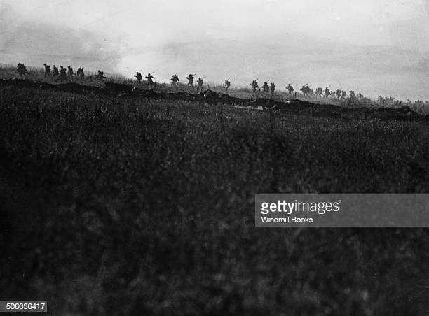Battle of Albert The Attack on La Boisselle 34th Division troops advancing 1st July 1916 Tyneside Irish Brigade British Front France Battle Somme