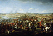 Battle of Blenheim August 13 oil on canvas by John Wooton 1472 cm x218 3 War of the Spanish Succession Germany 18th century London National Army...