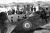 Battle of Dien Bien Phu1954 General Vo Nguyen Giap saw French aircraft wreckage shot down beside Muong Thanh bridge