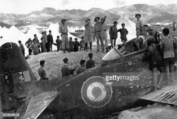 Battle of Dien Bien Phu1954 General Vo Nguyen Giap saw French aircraft wreckage shot down beside Muong Thanh bridge