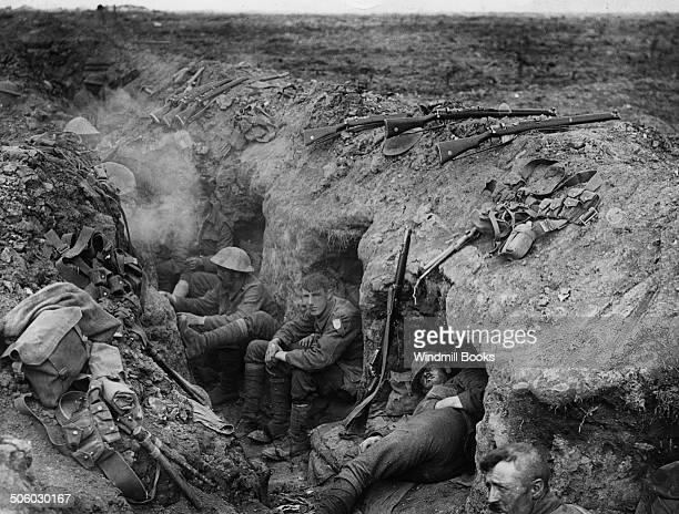 Battle of Guillemont 36th September1916 Welsh Guards in a reserve trench at Guillemont British Front France General Battle Somme