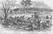 Battle of Pittsburg Landing Ohio Regiment Recaptures Artillery Pittsburg Landing Tennessee April 7 1862 From an issue of Frank Leslie's Illustrated...