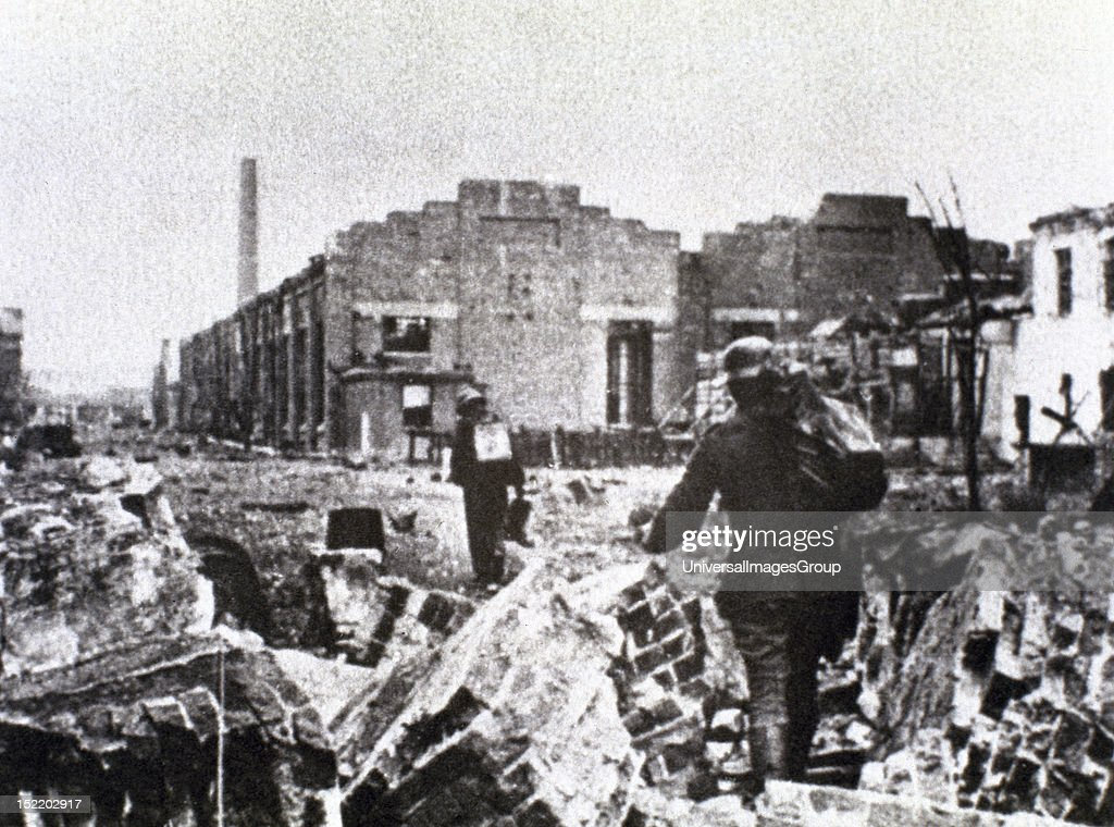 WAR Battle of Stalingrad fought between Russian and German troops Delivery of outposts December 1942 Eastern Front USSR