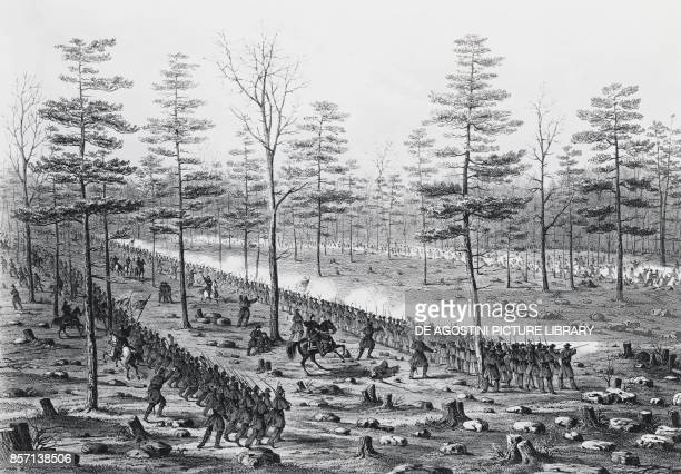 Battle of Stone River or the Battle of Murfreesboro December 31 1862 January 2 American Civil War engraving United States of America 19th century