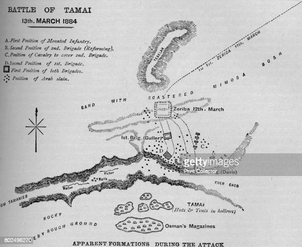 Plan' 1902 The Battle of Tamai fought between United kingdom and Sudan From Battles of the Nineteenth Century Vol II [Cassell and Company Limited...