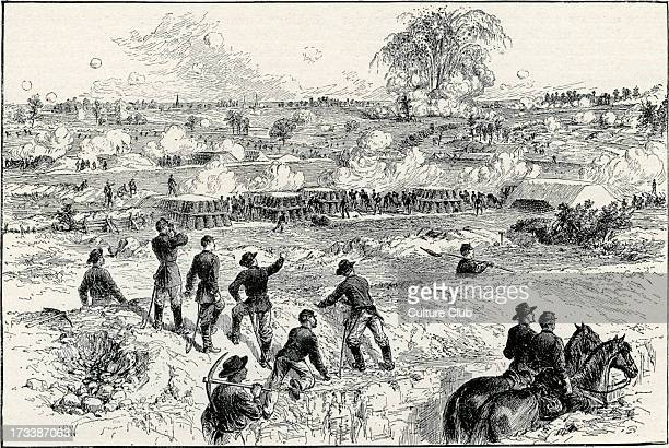 Battle of the Crater American Civil War explosion of the mine 30 July 1864 Federate troops exploded a mine in the Confederate defences of Gen Ambrose...