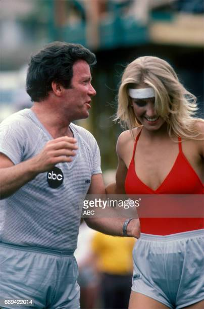 'Battle of the Network Stars' 10/1/82 on the ABC Television Network competition 'Battle of the Network Stars' talent WILLIAM SHATNER HEATHER THOMAS...
